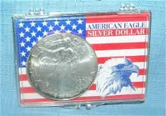 Walking Liberty silver eagle commemorative US coin