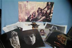 Collection of rock and roll photographic clippings