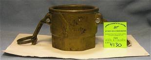 Antique evertight fire hose and nozzle coupling