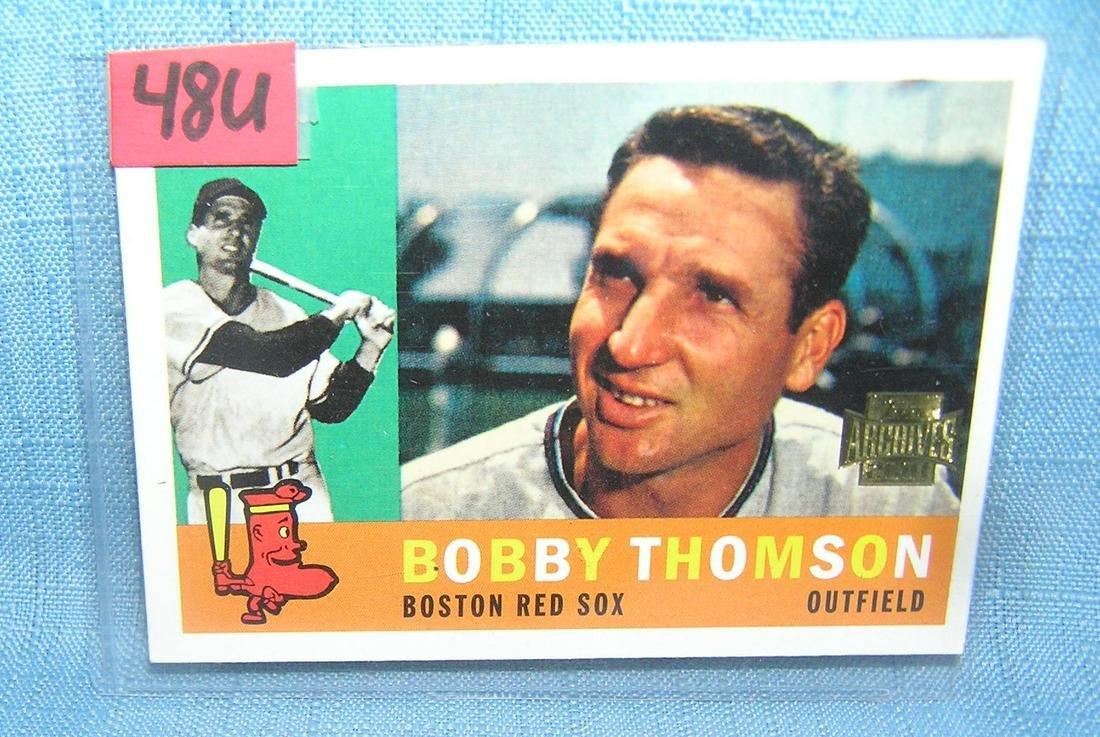 Bobby Thompson Topps archives baseball card