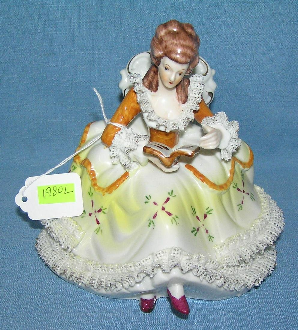 Hand painted Victorian style figure of a woman