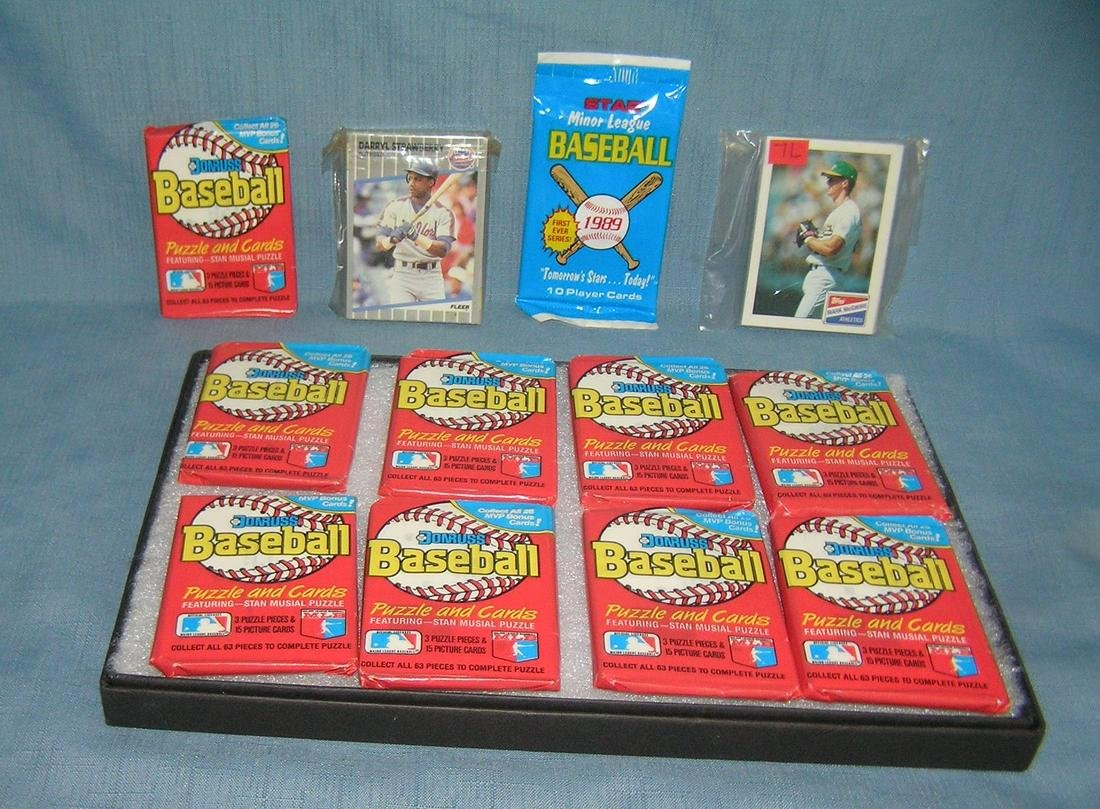 Collection of unopened baseball cards and sets