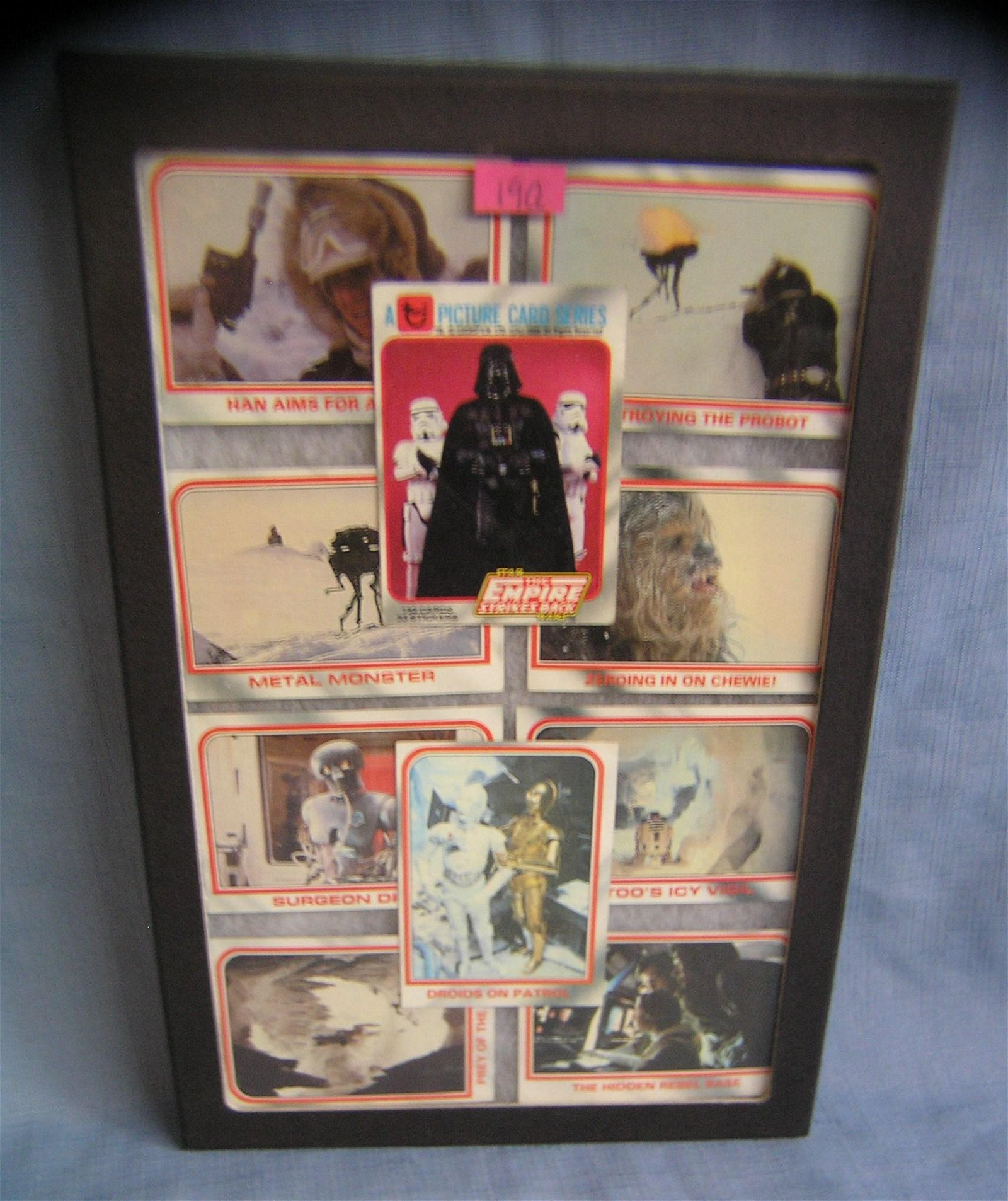 Collection of vintage Star Wars collector cards