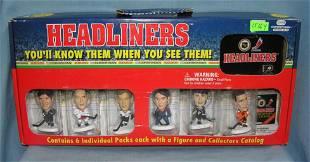 Box set of 6 Hockey all star figures