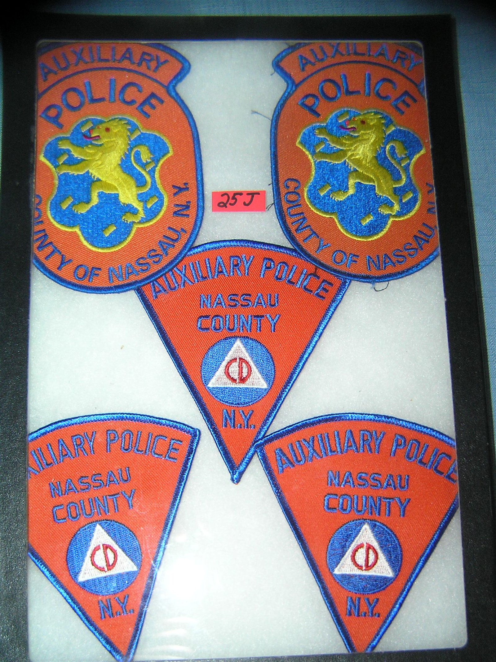 Collection of vintage police patches