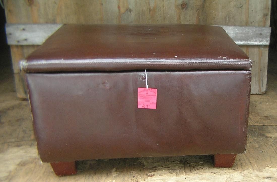 Large leatherette ottoman with storage
