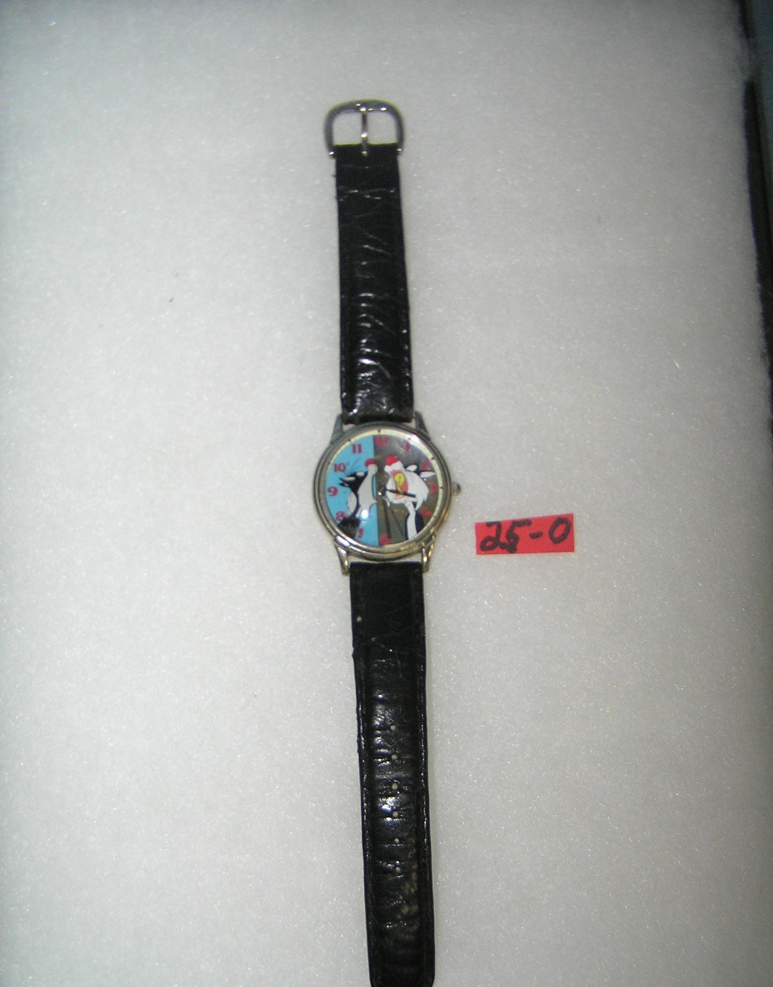Sylvester and Tweety Bird cartoon character watch