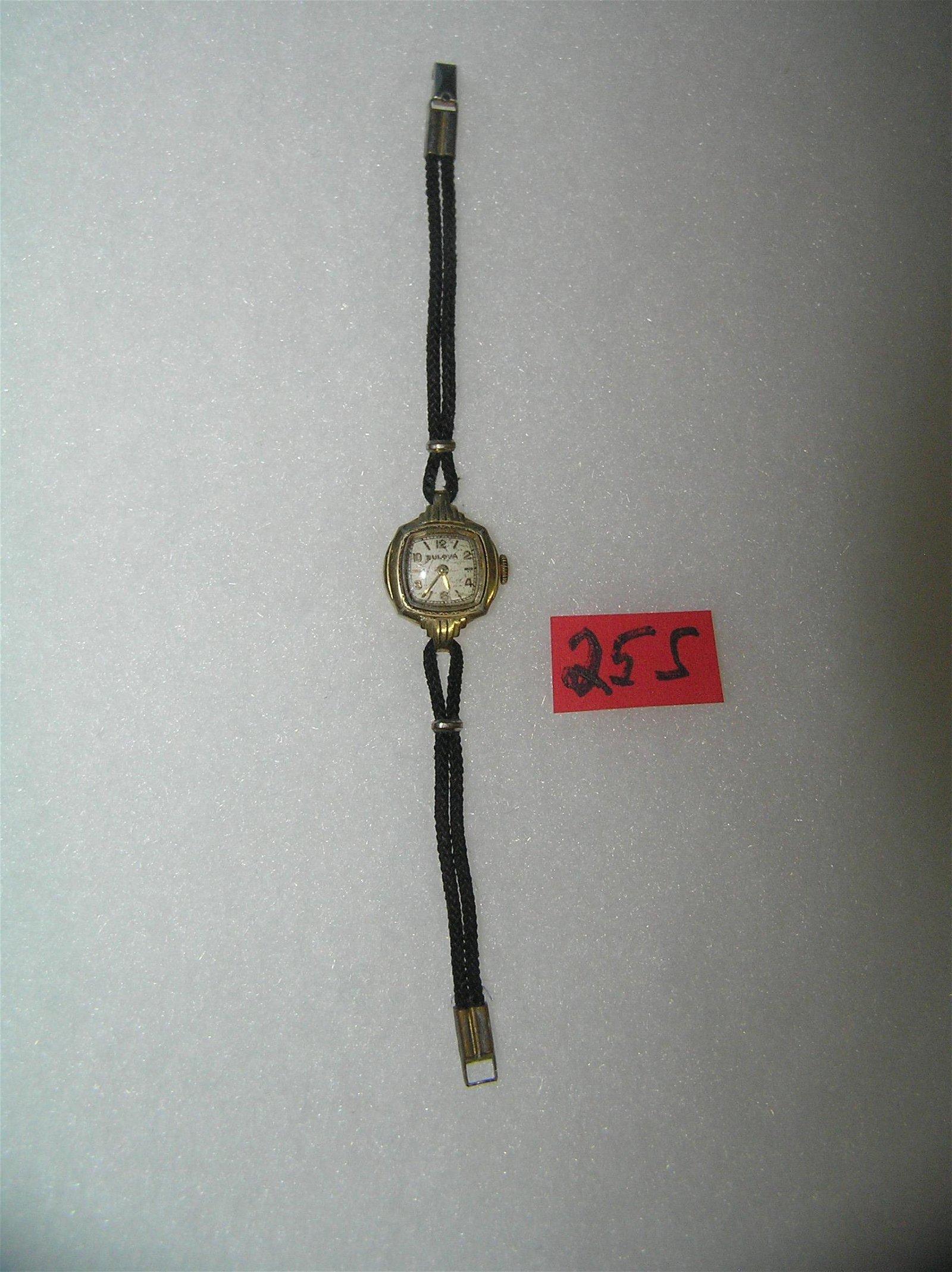 Bulova 10K gold plated ladies' wrist watch