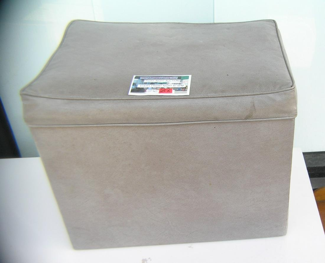 Vintage 1960's hassock with hinged lid