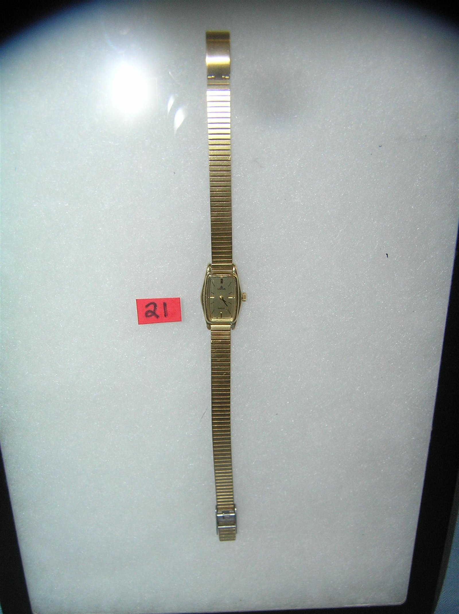 Gold toned wrist watch by Lorus