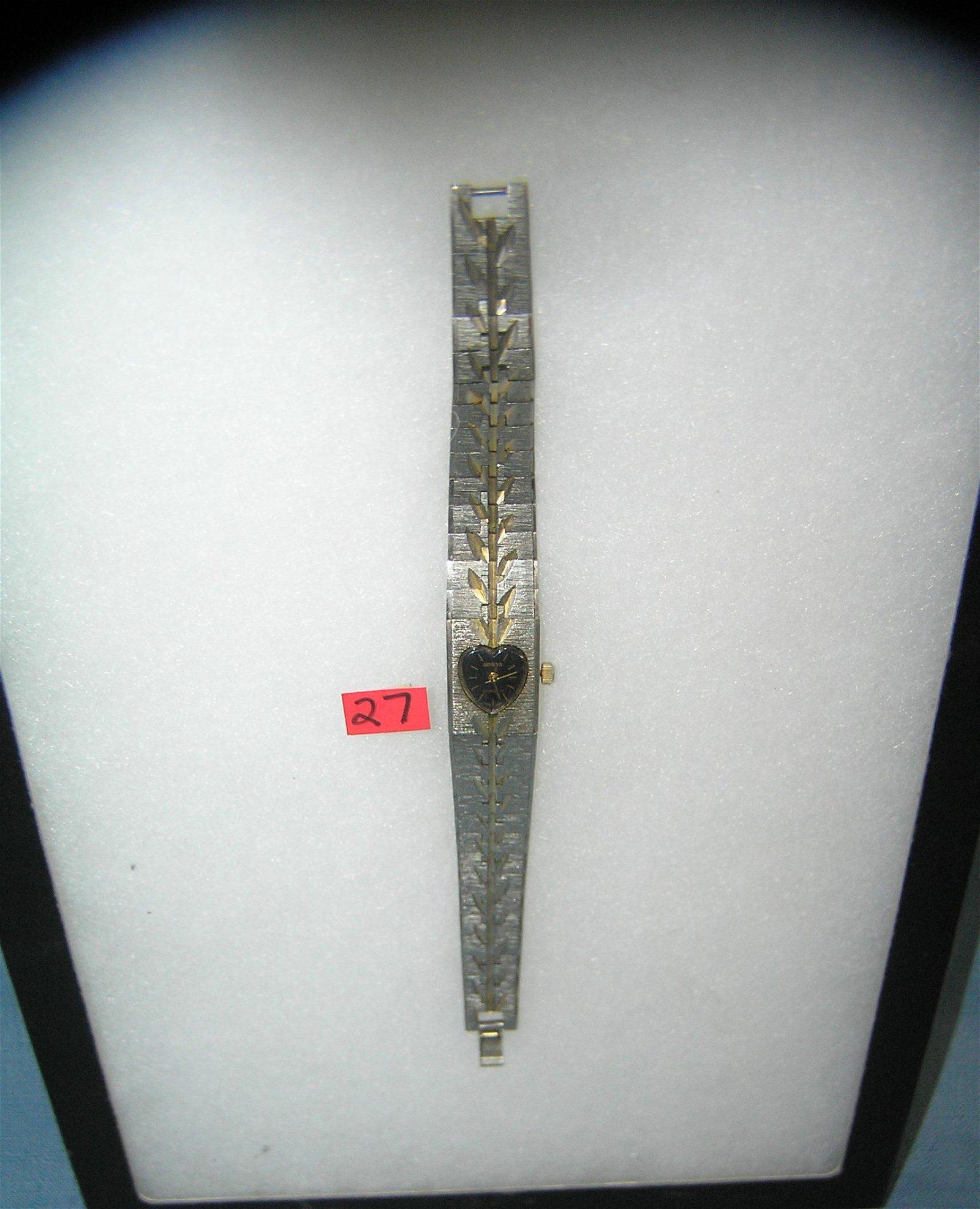 Geneva silver toned wrist watch