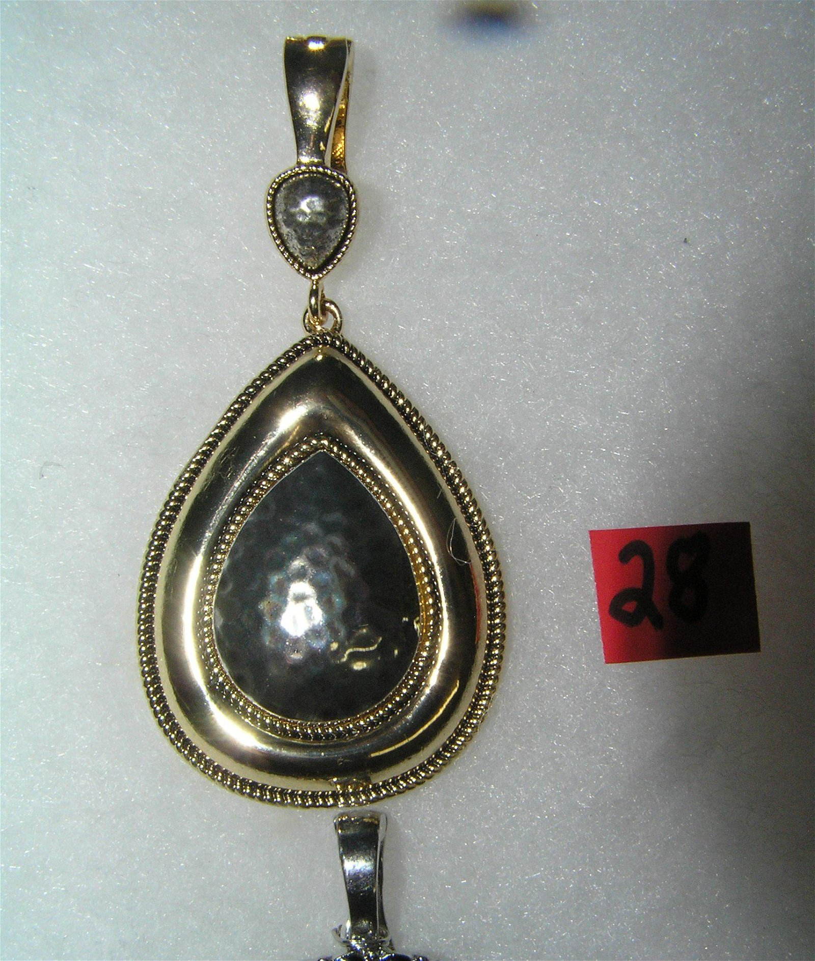 Vintage necklace pendant clasp marked RRN
