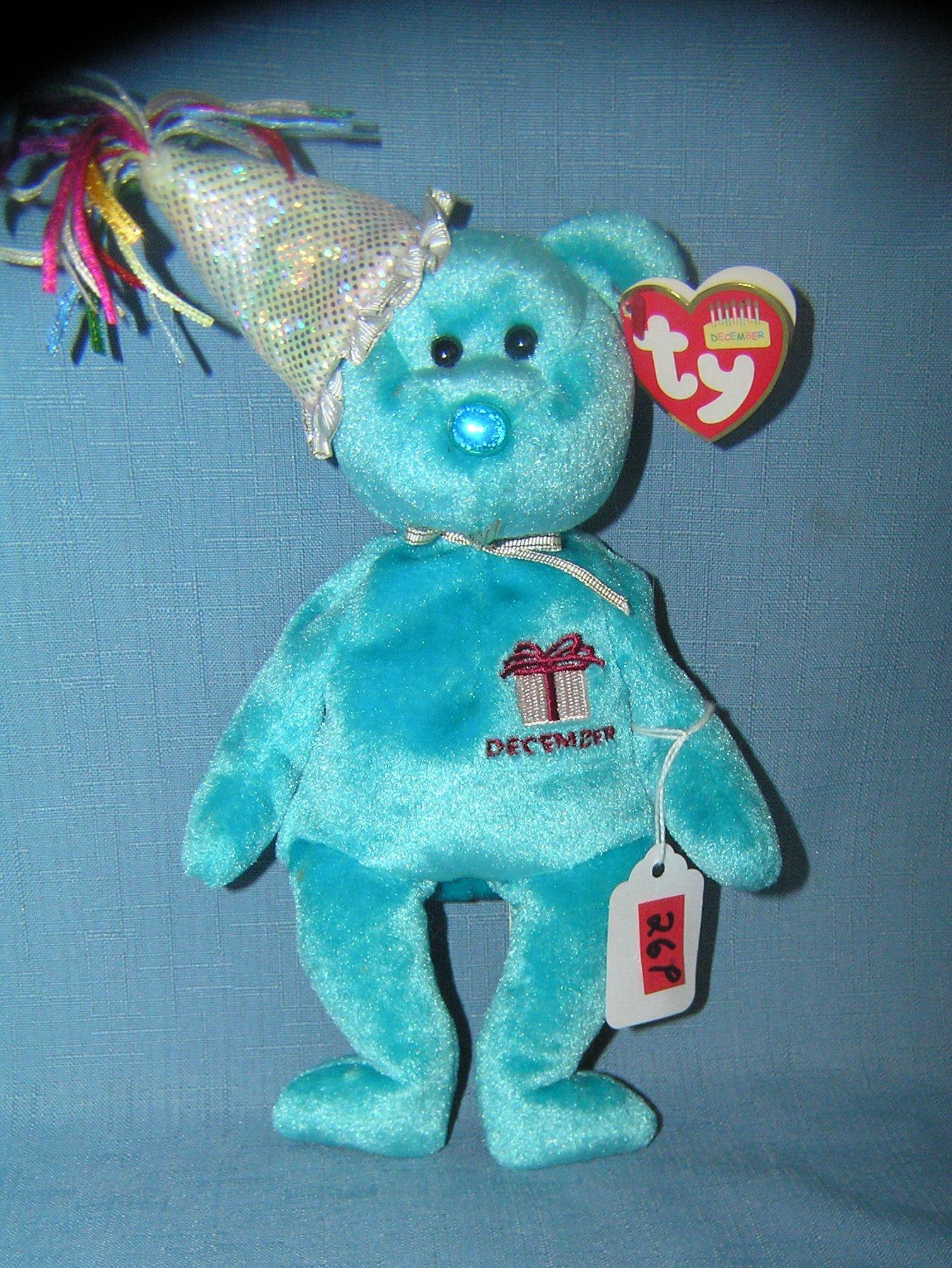 Vintage December birthday bear Beanie Baby
