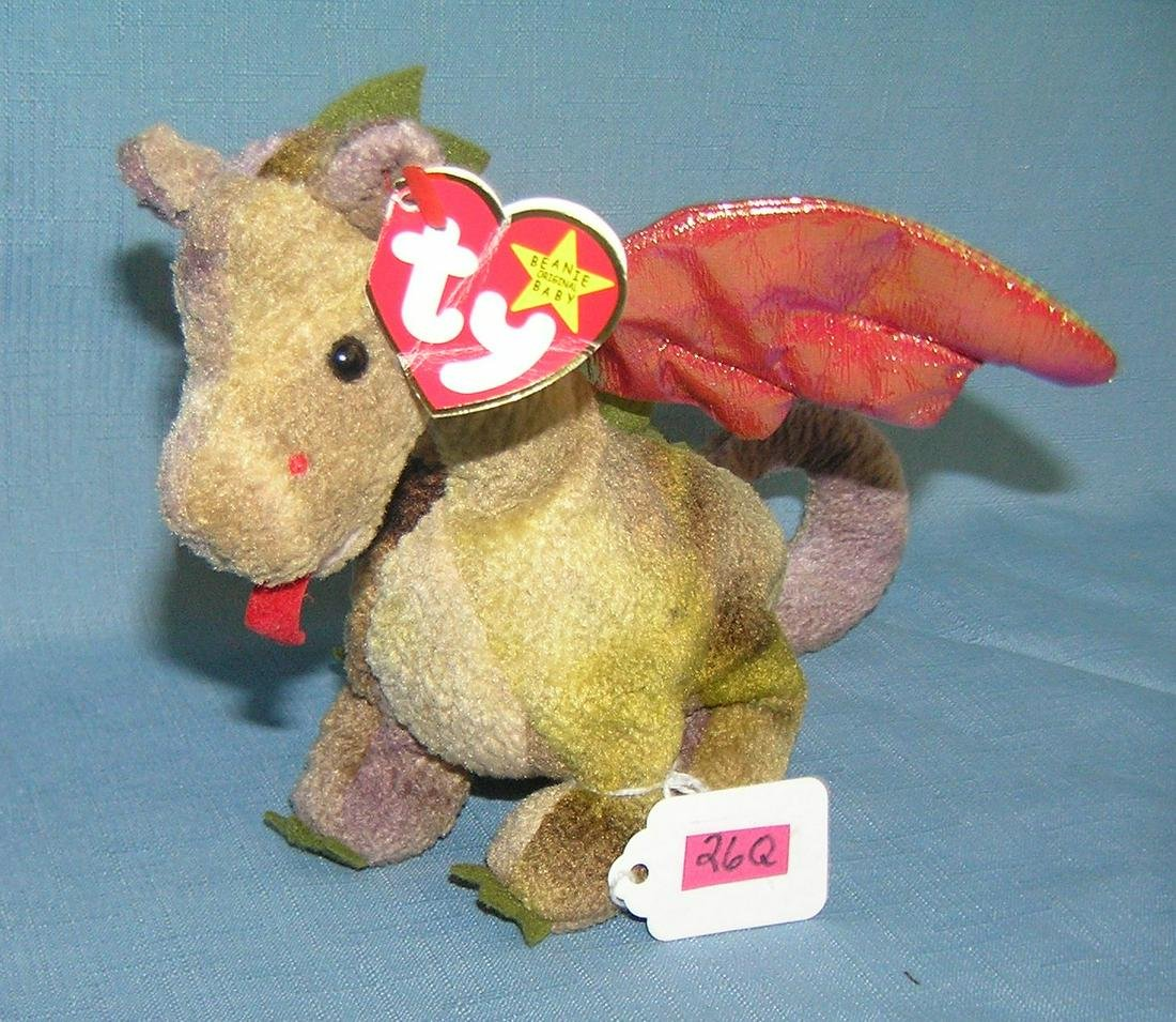 Scorch the dragon vintage Beanie Baby
