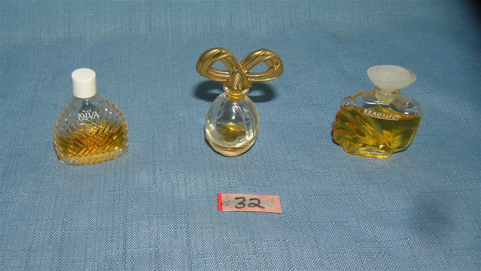 Group of miniature perfume bottles