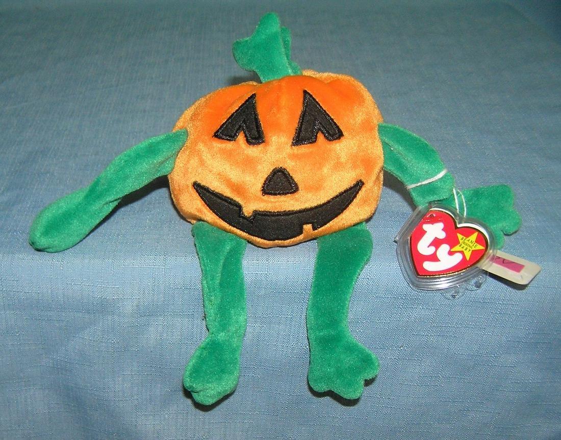 Vintage Pumpkin Beanie Baby toy