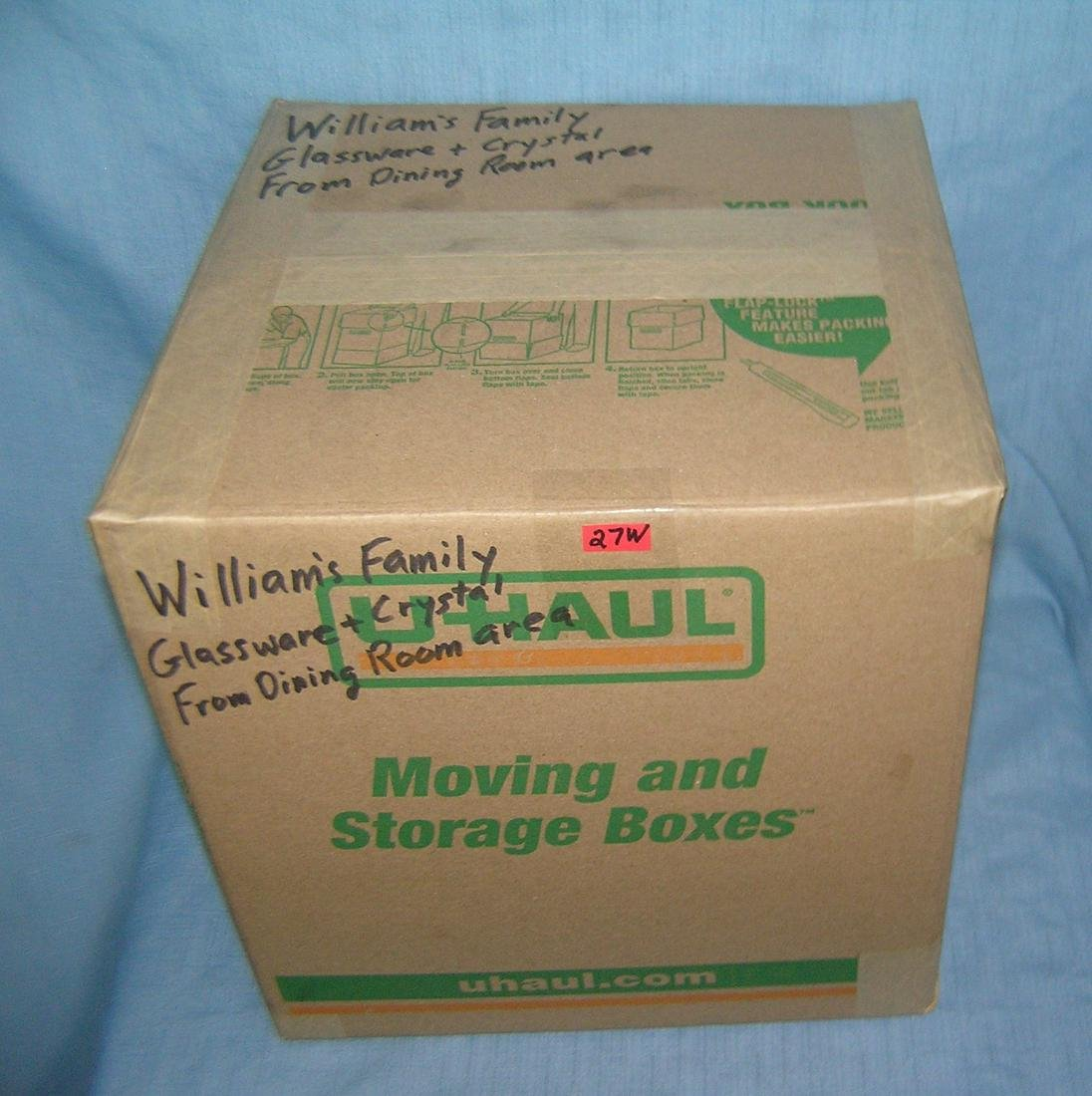 Mystery moving and storage Co. box lot marked William's