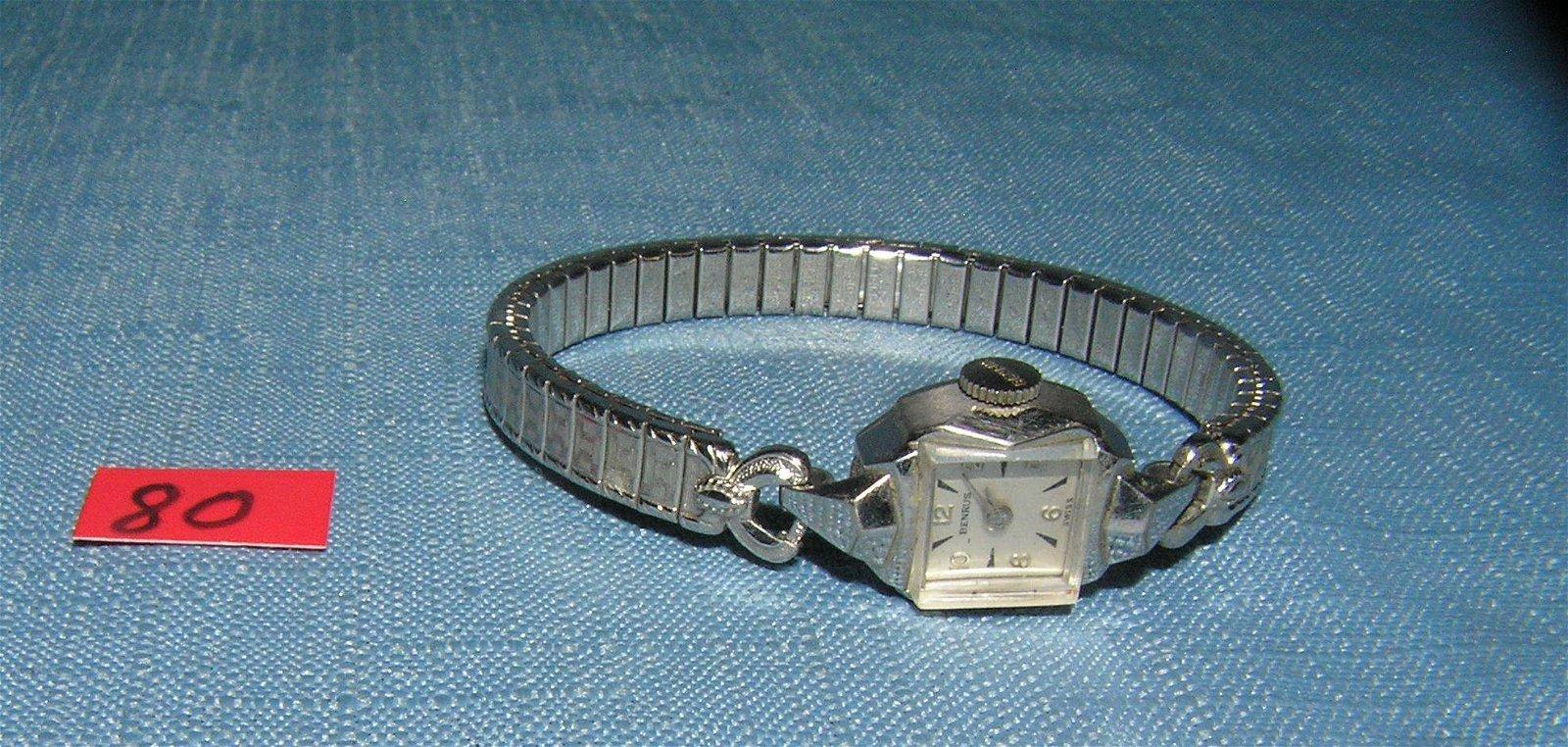 Vintage Benrus 10K gold plated ladies' wrist watch
