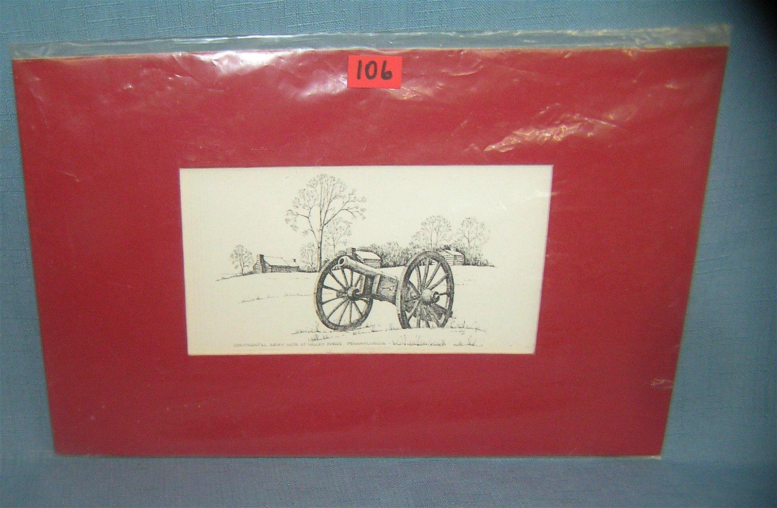 Continental Army huts at Valley Forge PA print