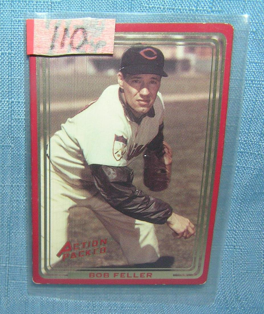 Bob Feller all star baseball card