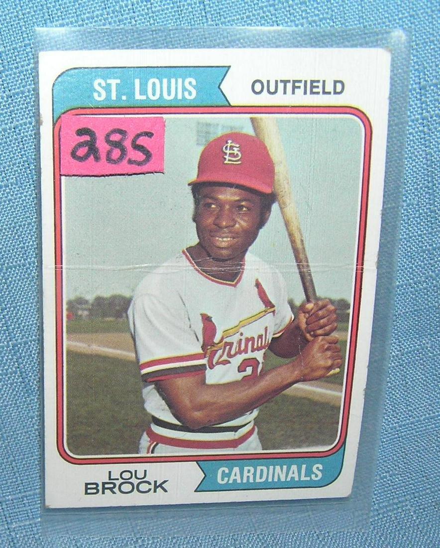 Vintage Lou Brock 1974 Topps baseball card