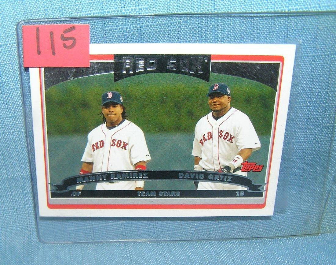 David Ortiz and Manny Ramirez all star baseball card