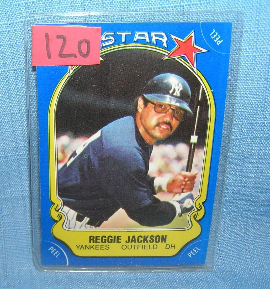 Vintage Reggie Jackson Fleer all star baseball card
