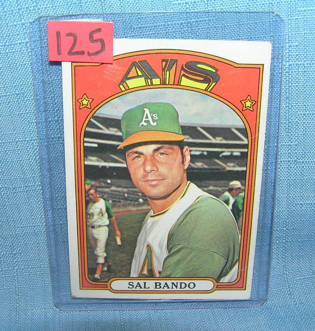 Vintage Sal Bando all star baseball card