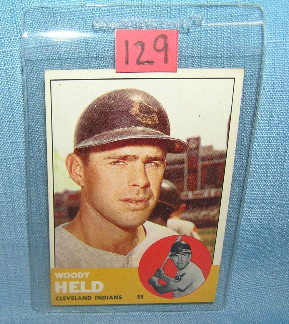 Vintage Woody Held 1963 Topps all star baseball card