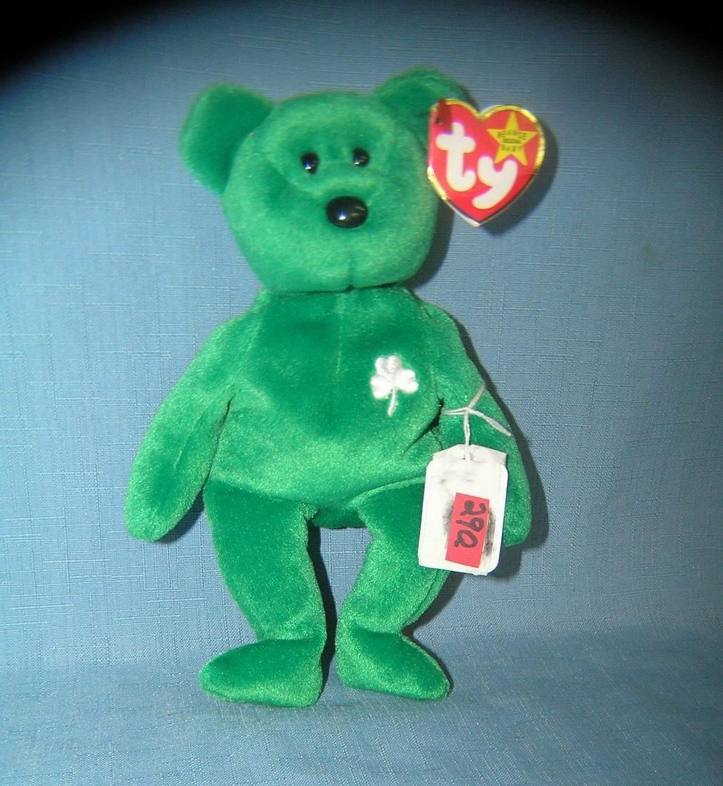 Erin the bear St. Patricks day Beanie Baby Bear