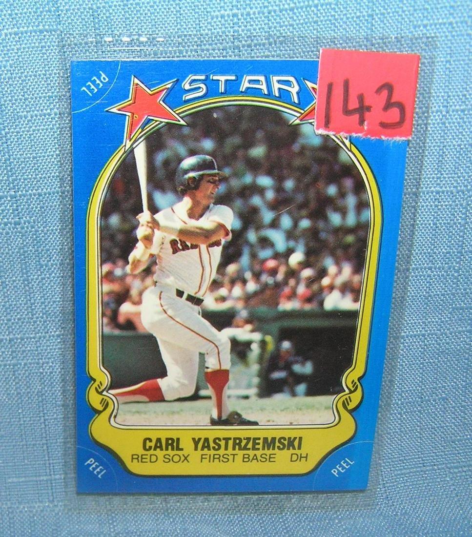 Vintage Carl Yastrzemski all star baseball card
