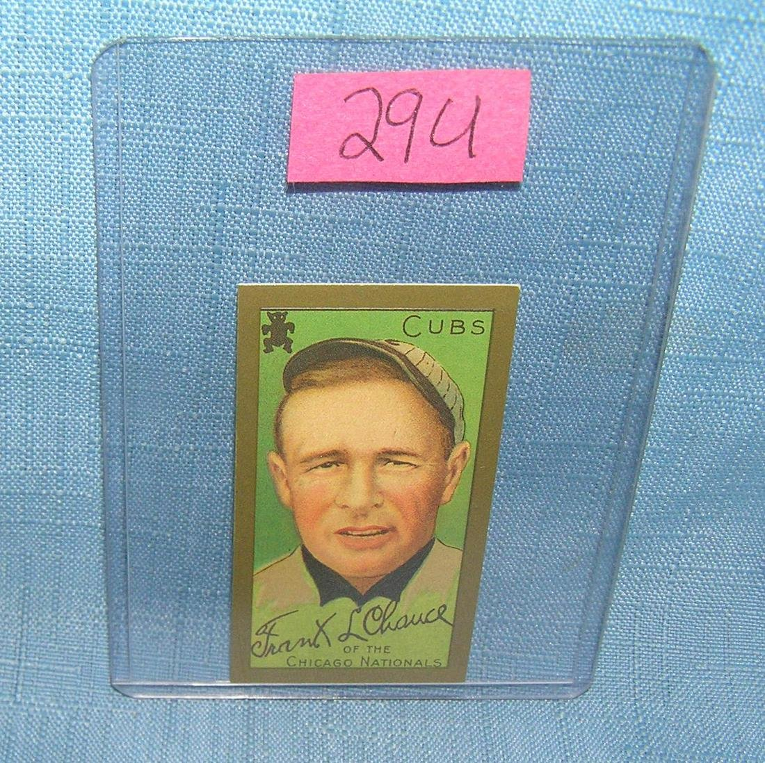 Frank L Chance reprint cigarette card