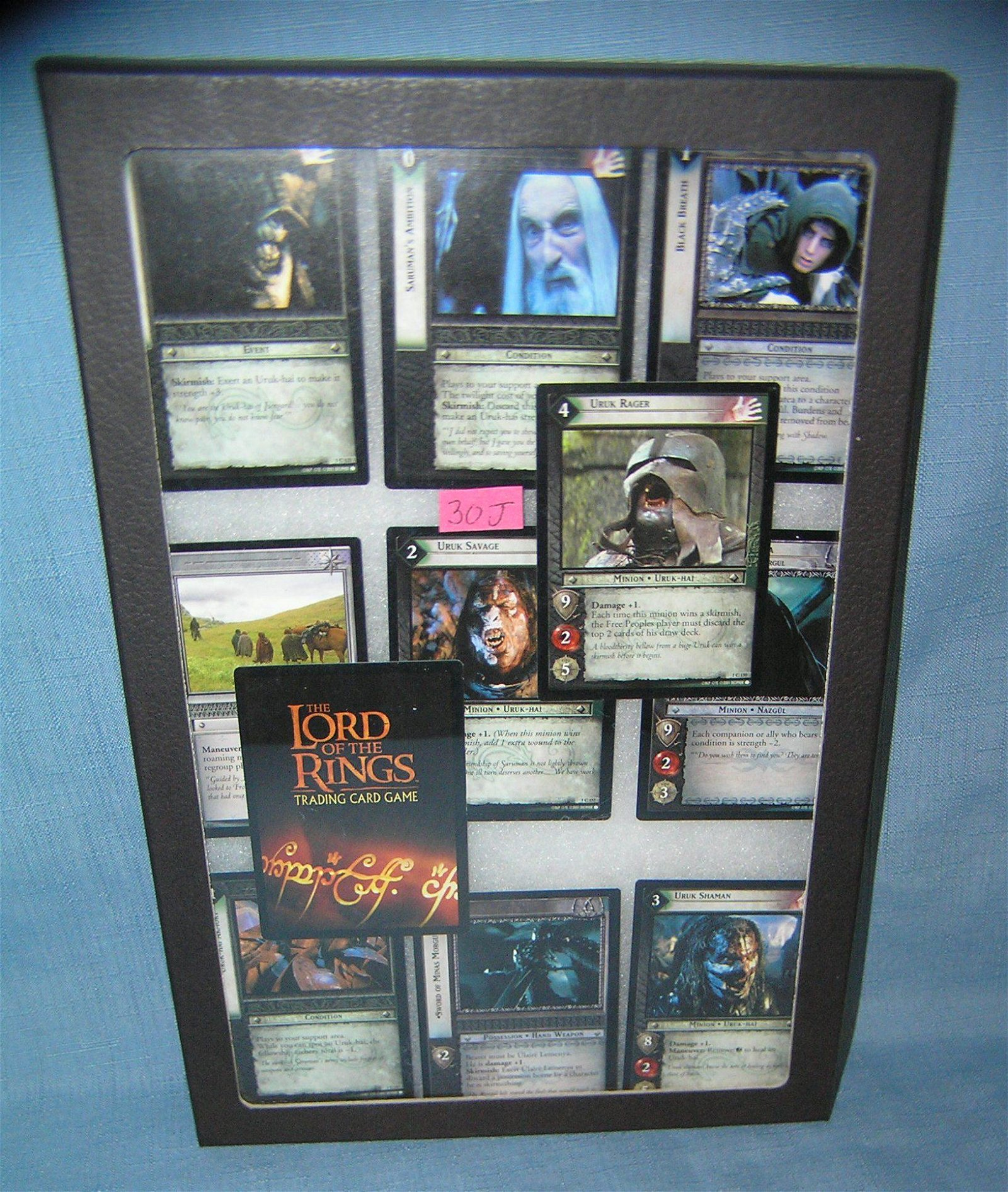 Collection of vintage Lord of the Rings collector cards