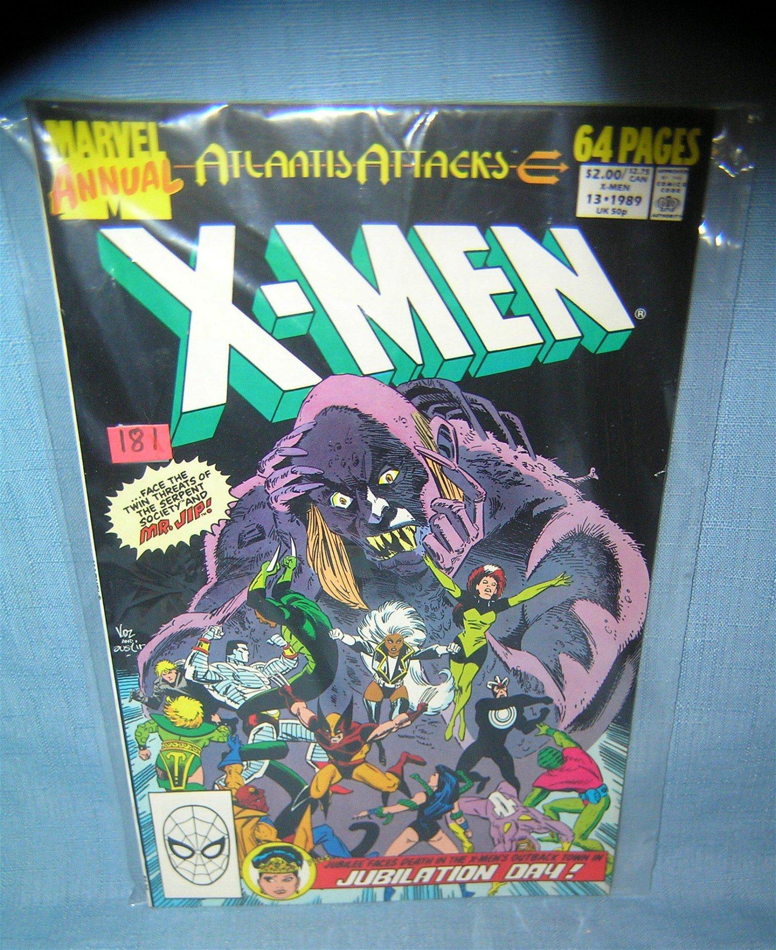 Vintage Xmen oversized comic book
