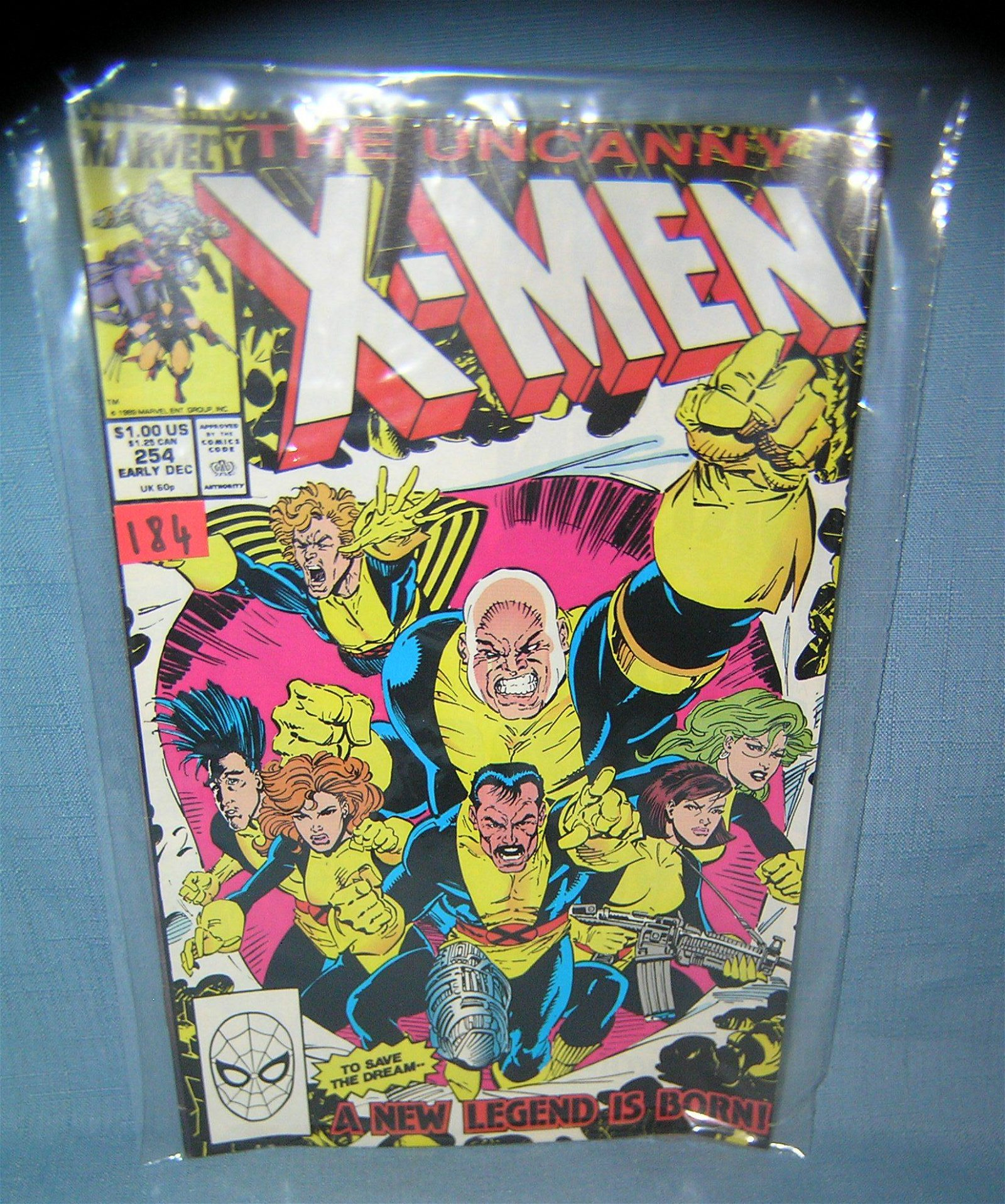 Vintage Xmen comic book the new legend is born