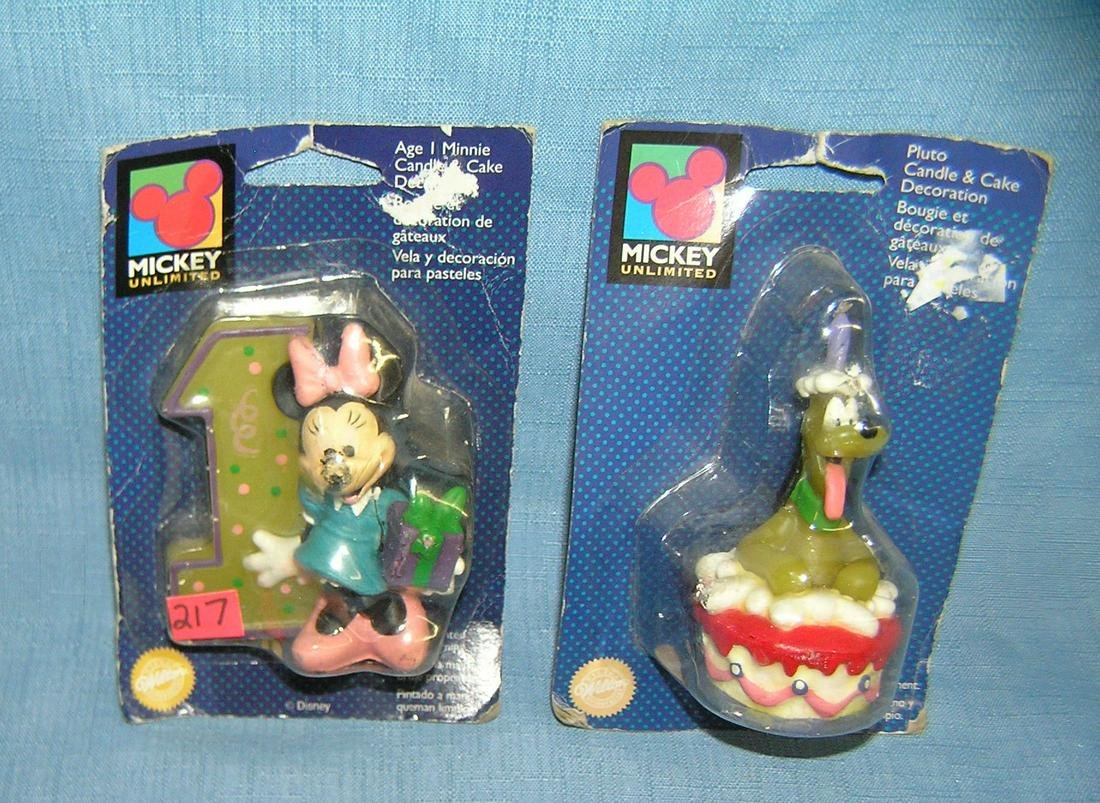 Pair of early Disney figural character candles