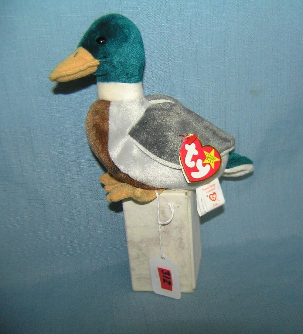 Vintage Jake Beanie Baby duck