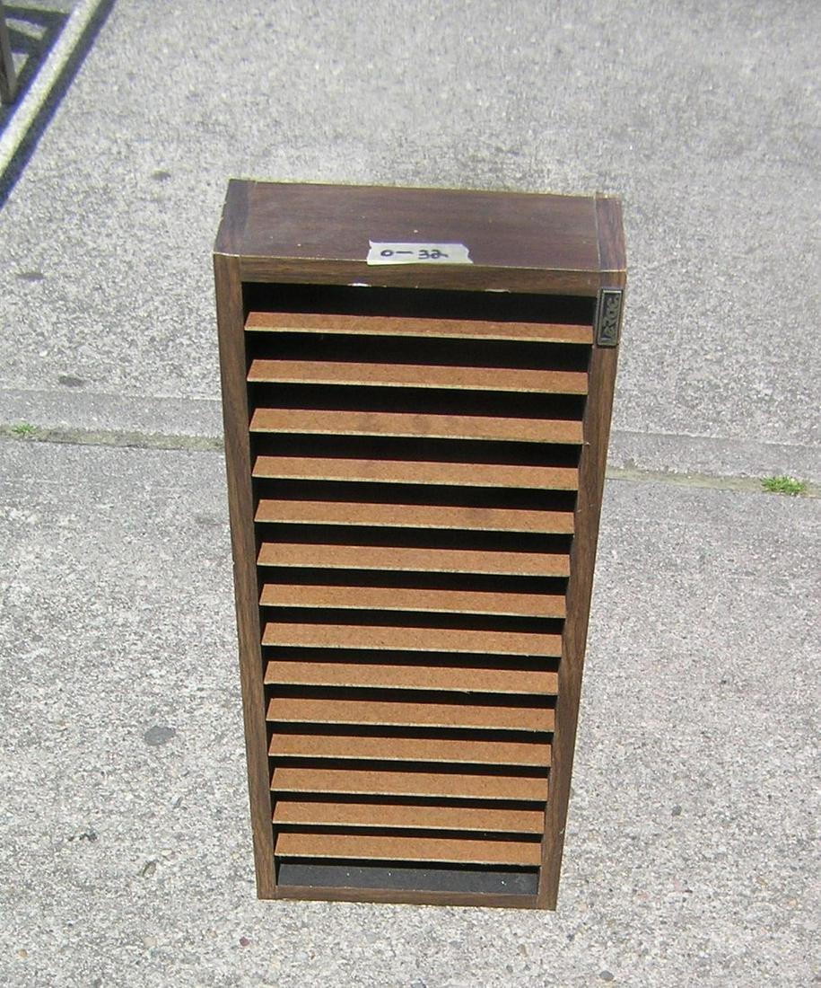 Walnut storage box with dividers