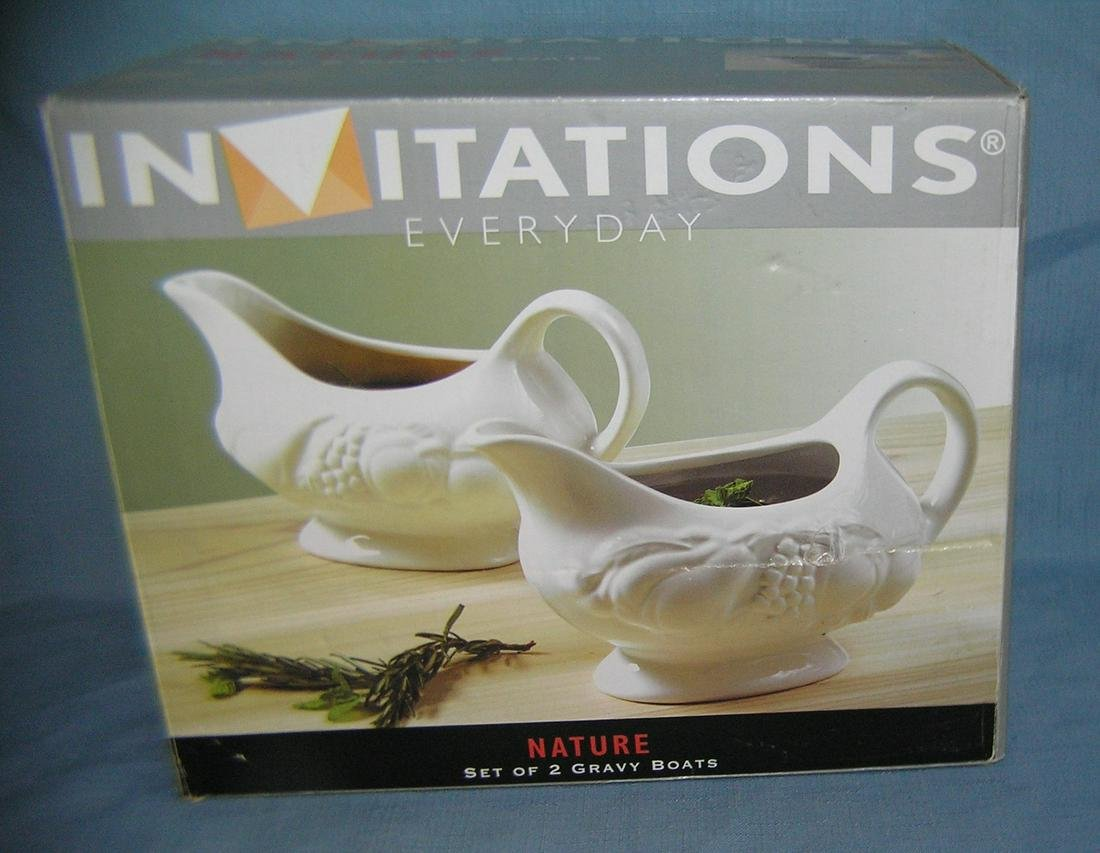 Set of 2 new in box gravy boats