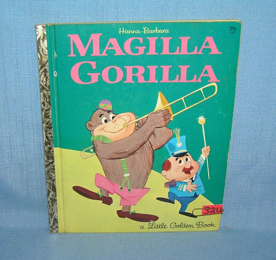 Magilla Gorilla vintage Little Golden book dated 1964