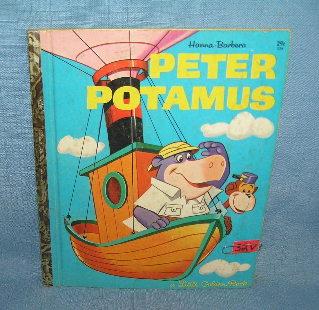 Peter Potamus vintage Little Golden book