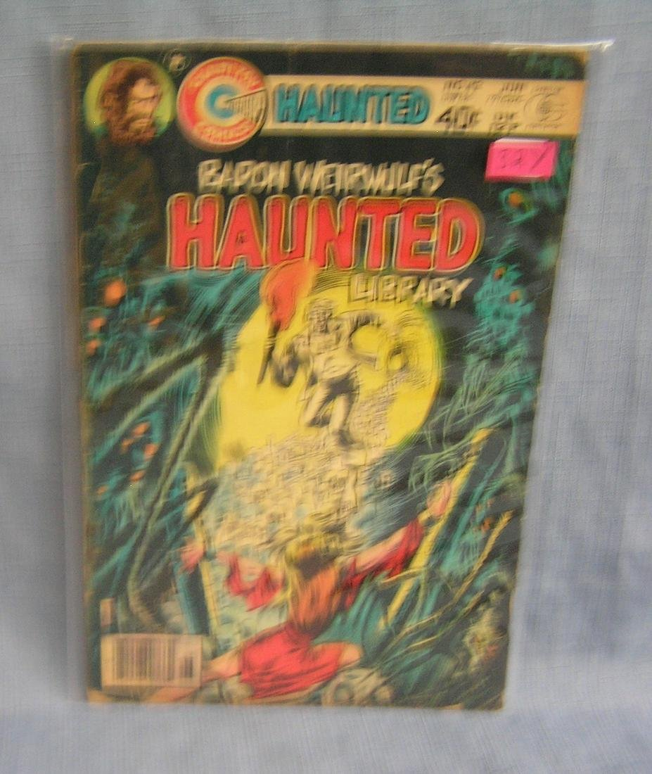 Early Haunted Library comic book