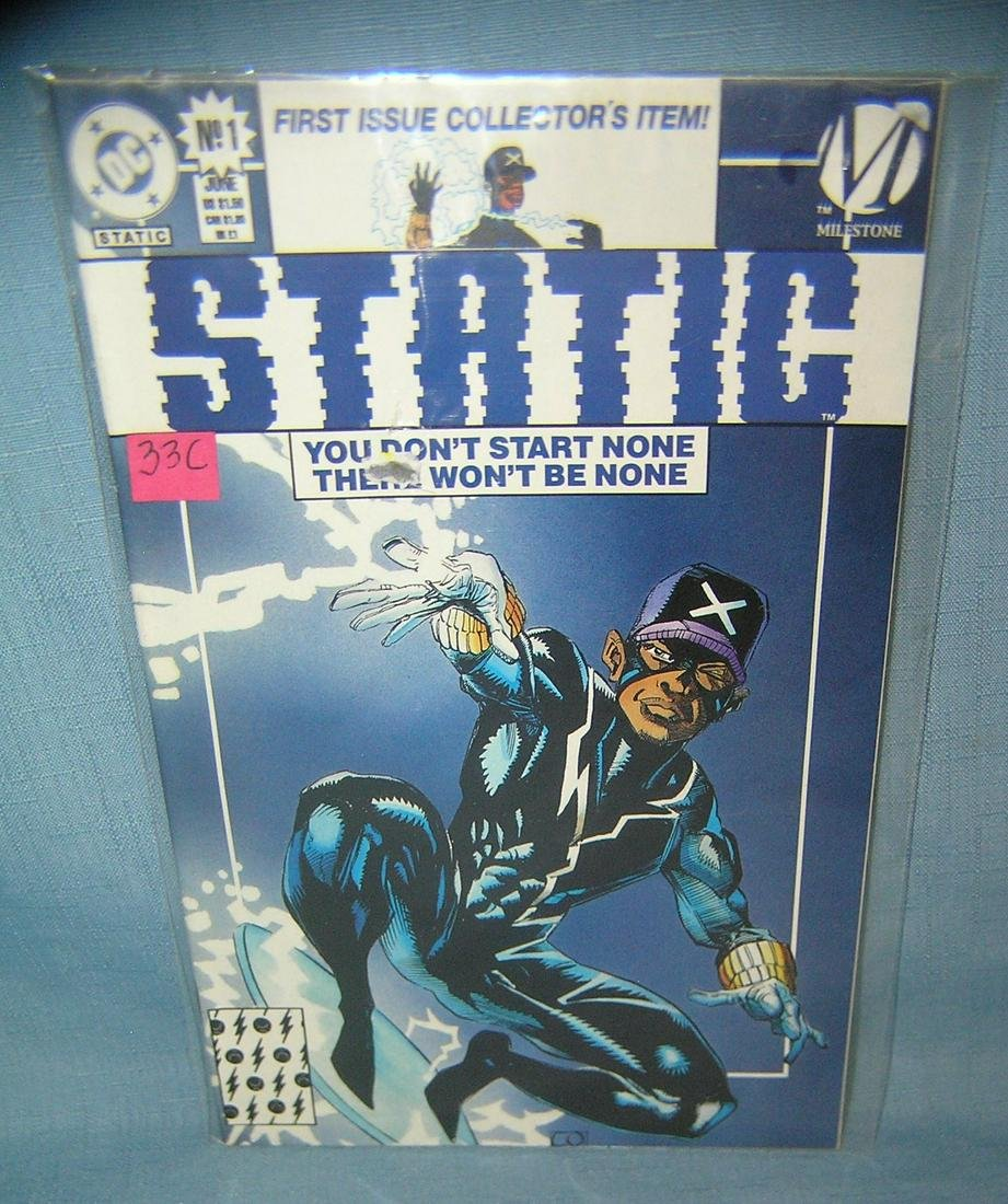 Static first edition comic book