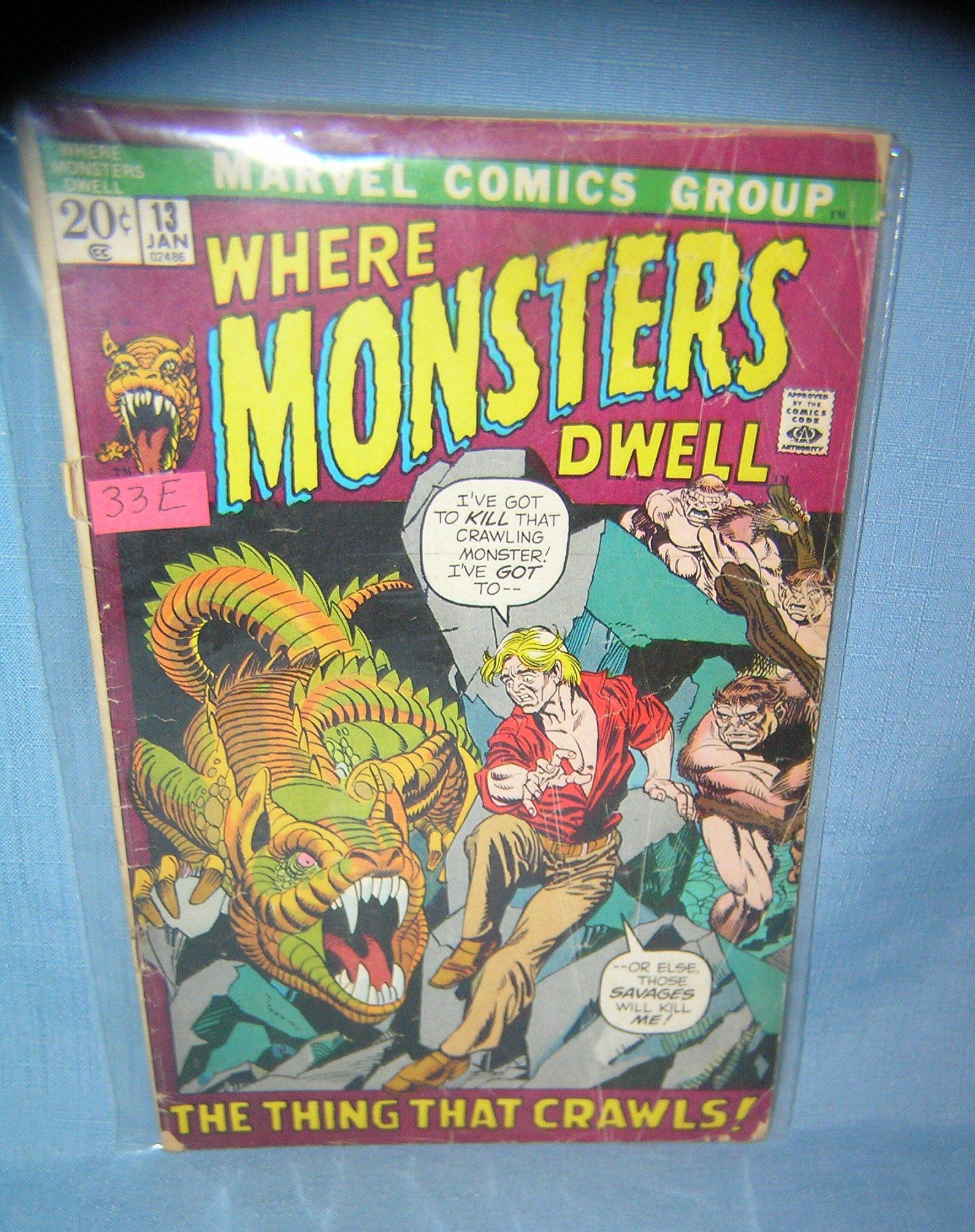 Where Monsters Dwell early Marvel comic book