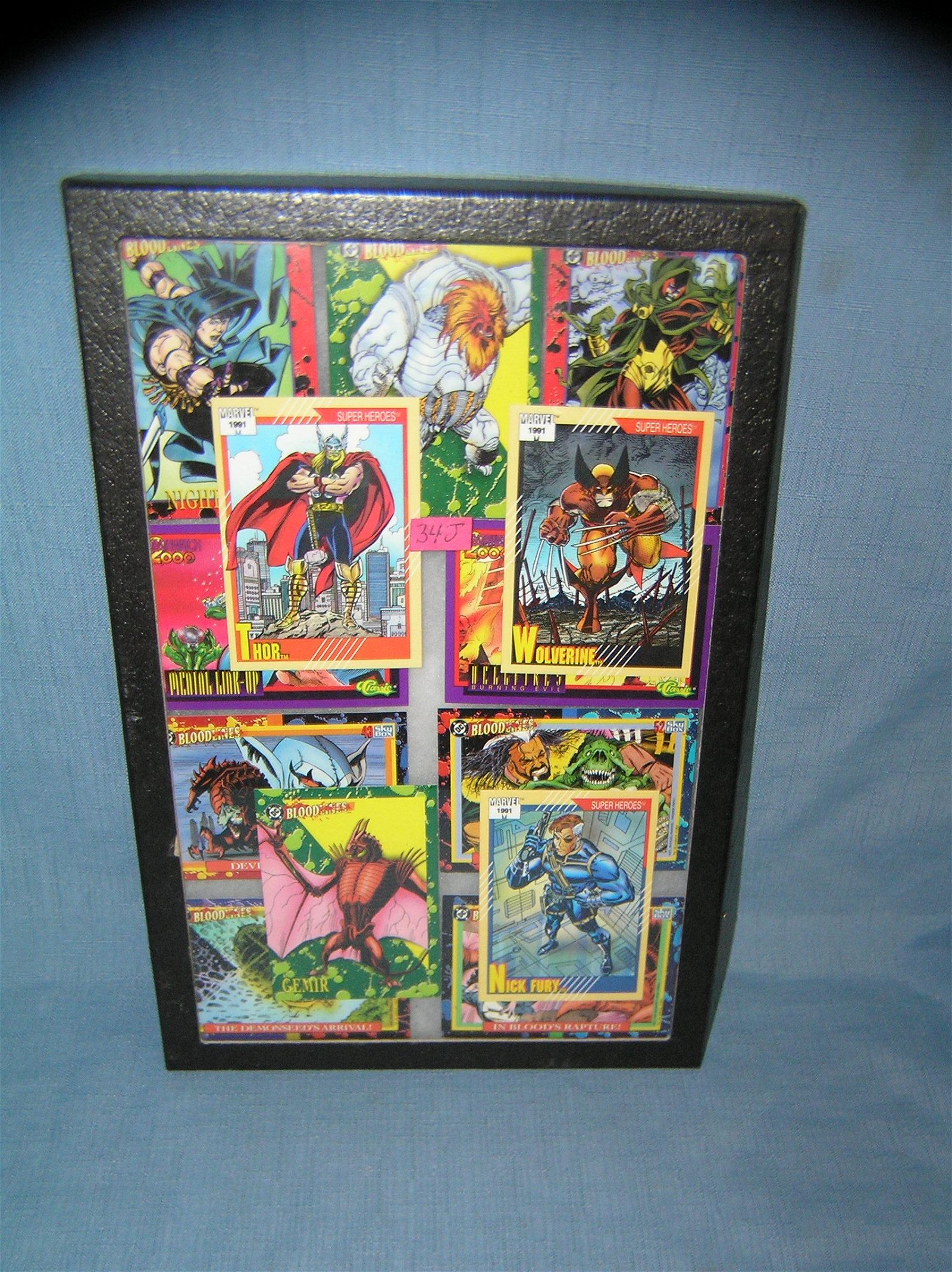 Superhero and villian nonsports collector cards