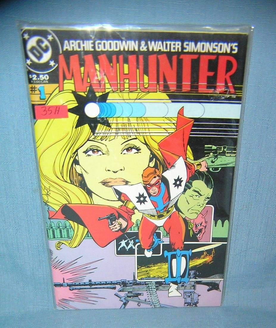 Vintage Man Hunter first edition comic book