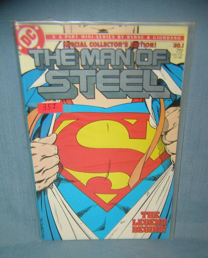 Vintage the Man of Steel Superman comic book