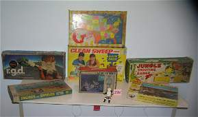 Collection of vintage toys, games and more