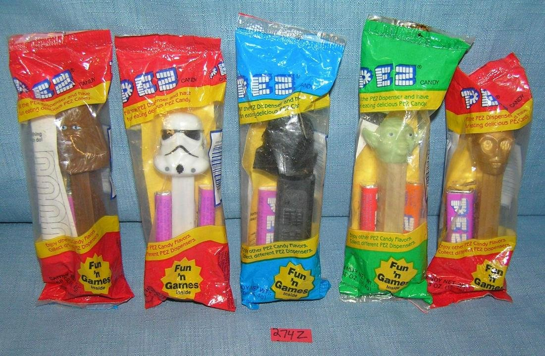 Group of vintage Star Wars character PEZ candy