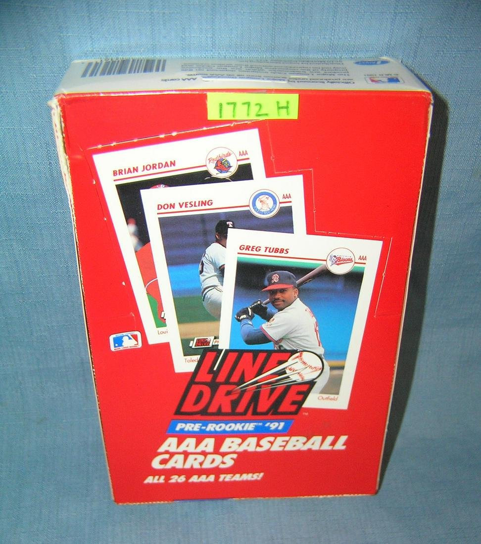 Box full of pre-rookie baseball cards